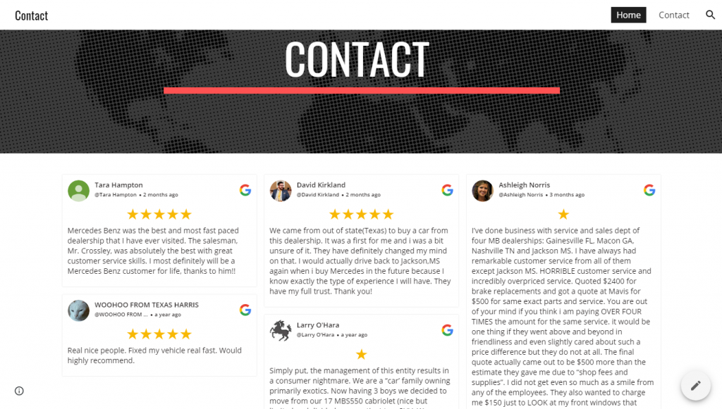 Integrate Embed google Review on Google site