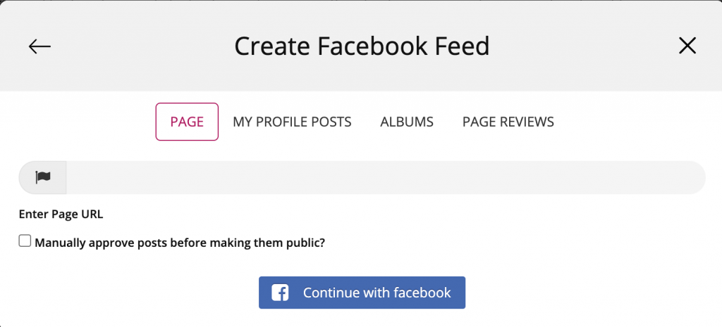 Integrate your facebook feed on Wix
