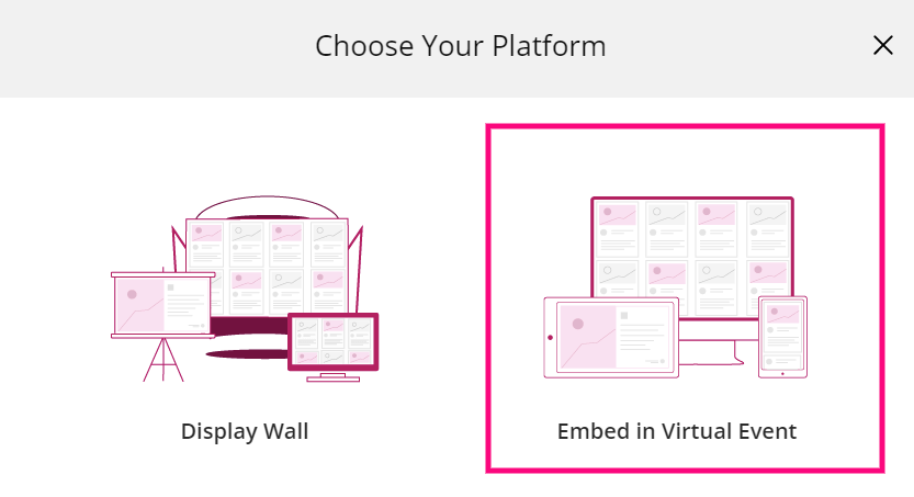 embed social wall in virtual events
