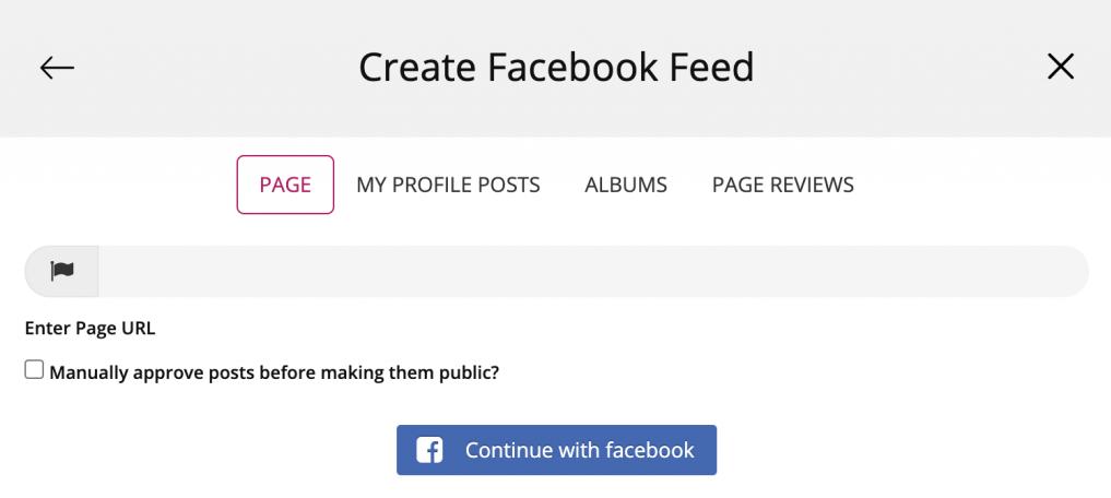 add facebook widget