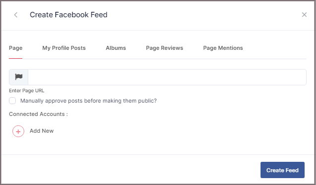 Display facebook feed on wix website