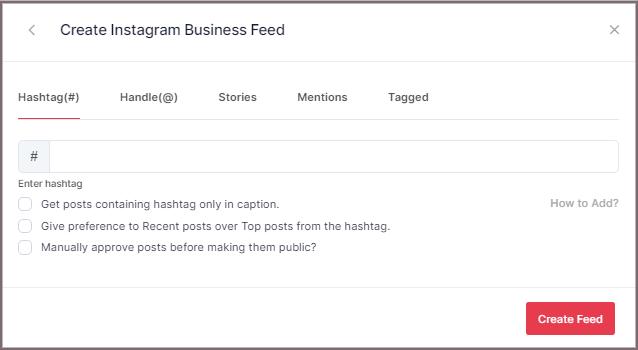 Instagram widget on Pagecloud