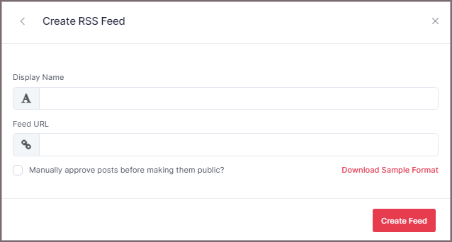 Create RSS Feed