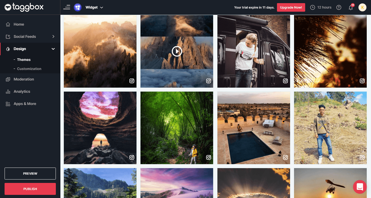 Instagram hashtag feed WordPress