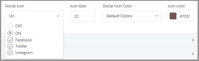 Social Icon Status