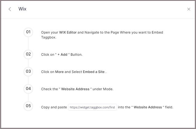 Display Facebook feed on WIX website
