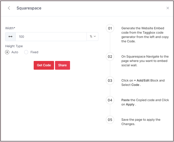 Select Height for Sqiuarespace Website