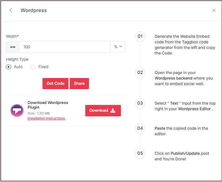 Select Height for WordPress Website