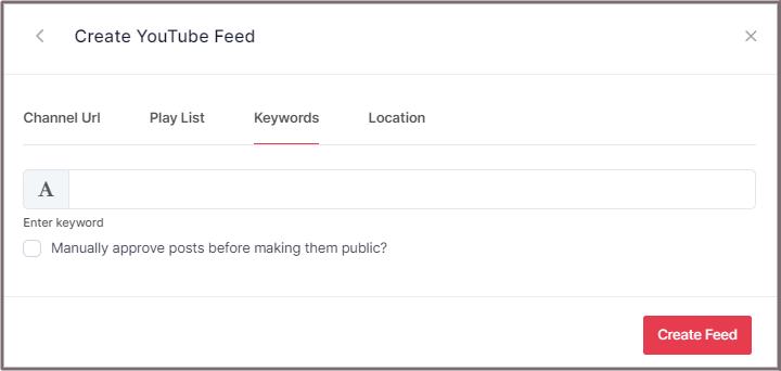 Embed YouTube Feed by Keyword