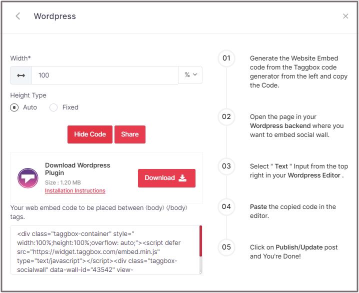 Embed Vimeo Code WordPress