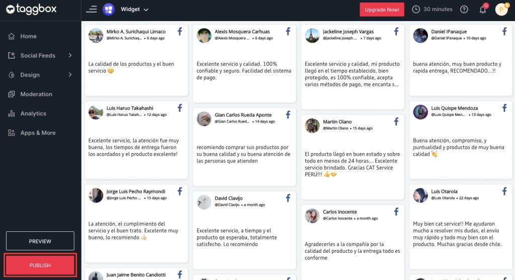 Preview & Publish Facebook Reviews