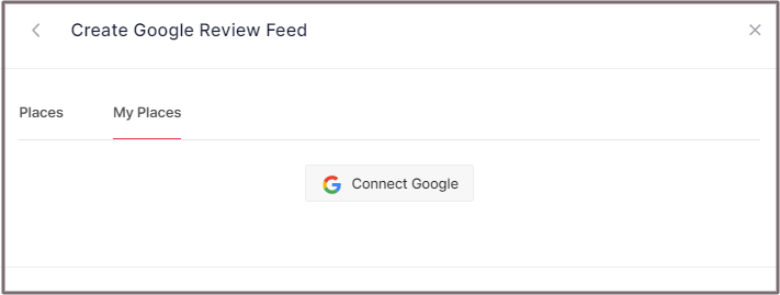 Choose My Places to Embed Feeds
