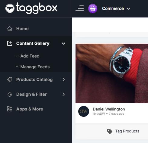 Taggbox Commerce Editor