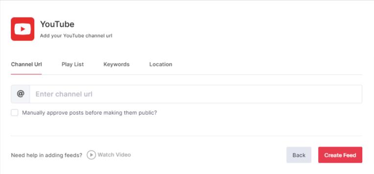 Choose Channel URL