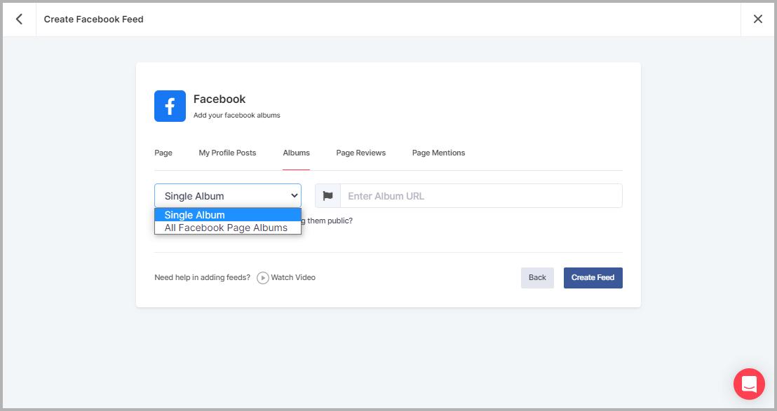 Embed Facebook Album