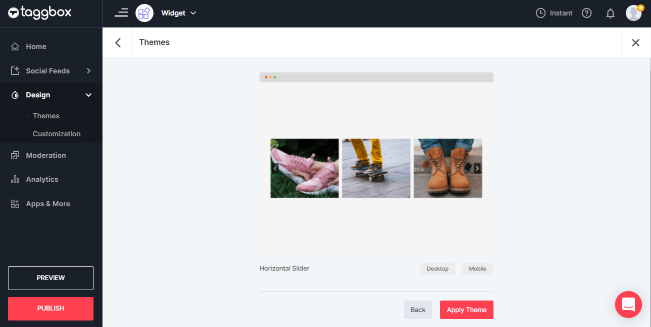 Embed Instagram Slideshow Widget Theme