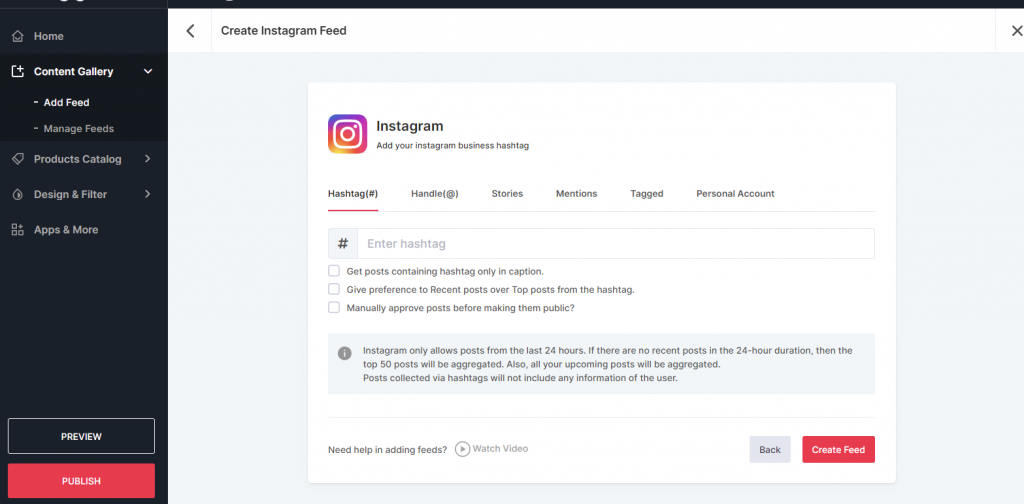 Connect Instagram to shopify