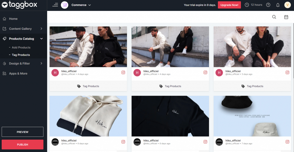 Product tagging shopify